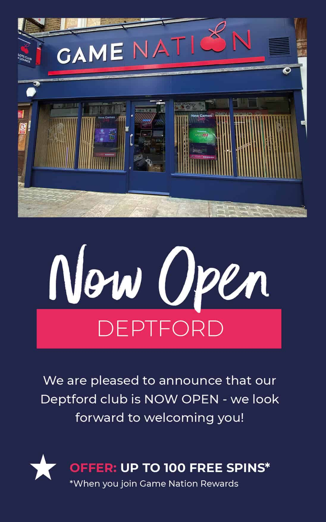 GN_Club Open Web Banner MOBILE_Deptford NOW OPEN