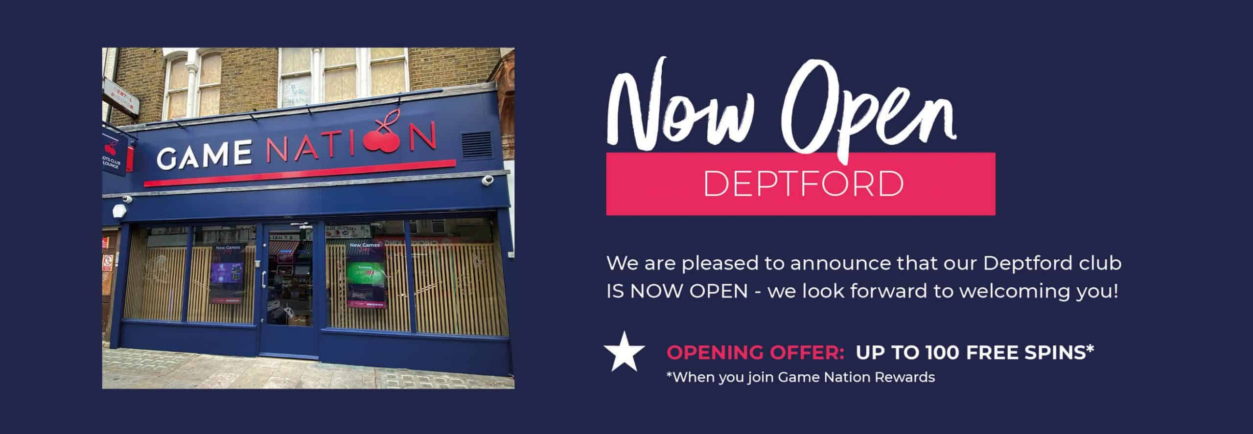 GN_Club Open Web Banner_Deptford NOW OPEN